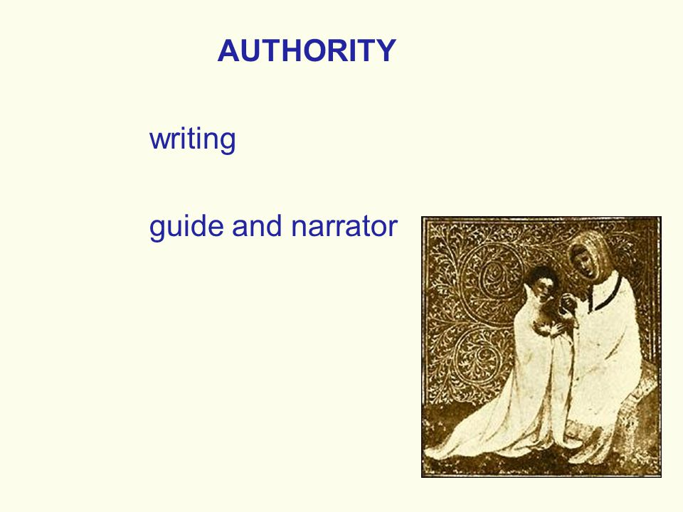 AUTHORITY writing guide and narrator