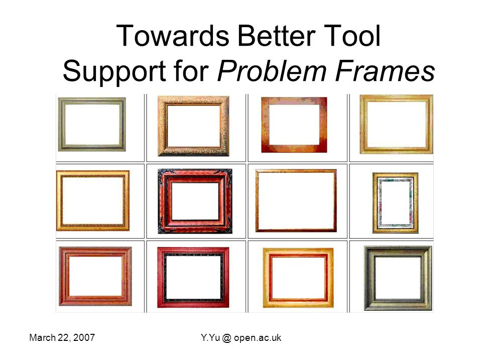 March 22, 2007Y.Yu @ open.ac.uk with fmp Feature Model Feature Metamodel