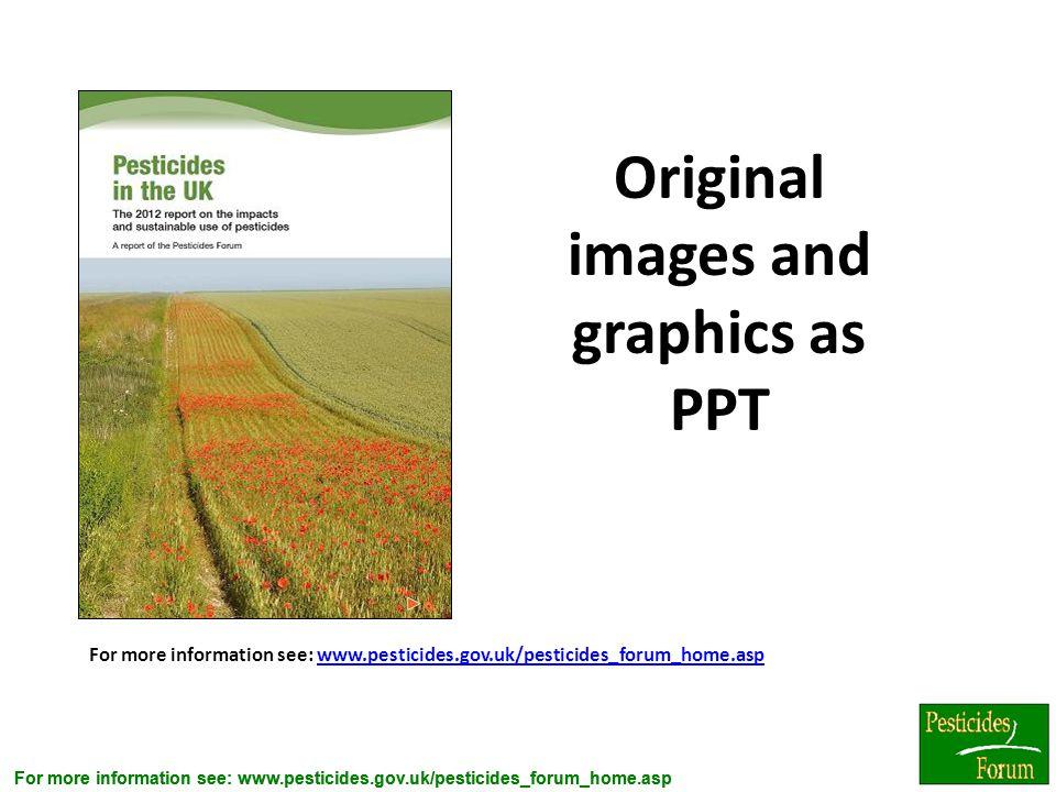 For more information see: www.pesticides.gov.uk/pesticides_forum_home.asp www.pesticides.gov.uk/pesticides_forum_home.asp Original images and graphics