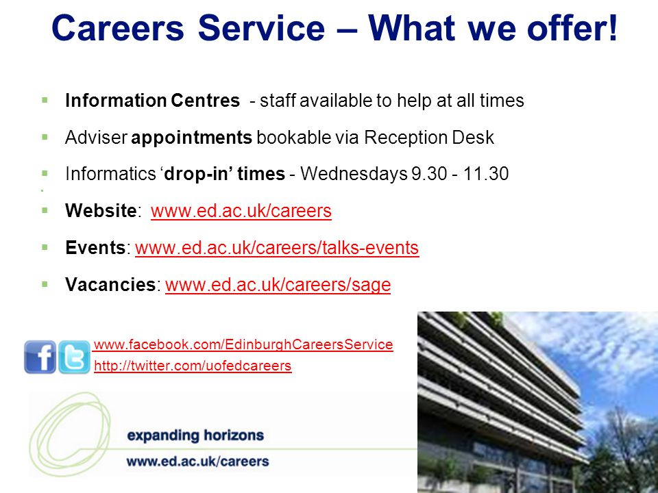 Careers Service – What we offer.