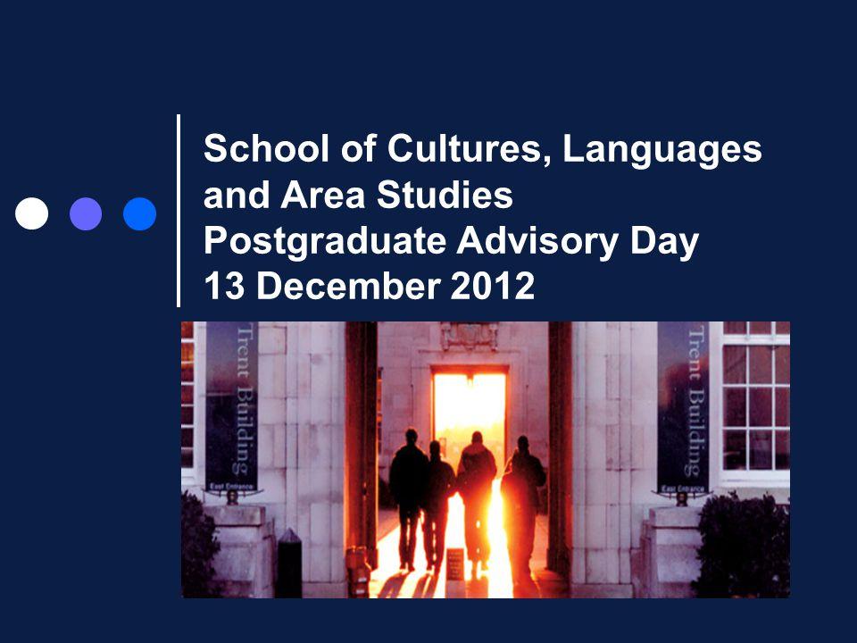 WELCOME Dr Nicki Hitchcott Director of Postgraduate Studies School of CLAS email: pg-clas.nottingham.ac.uk