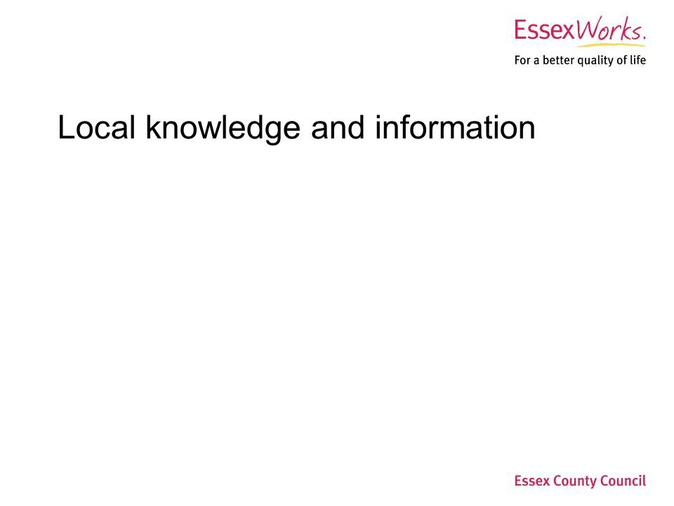 Local knowledge and information