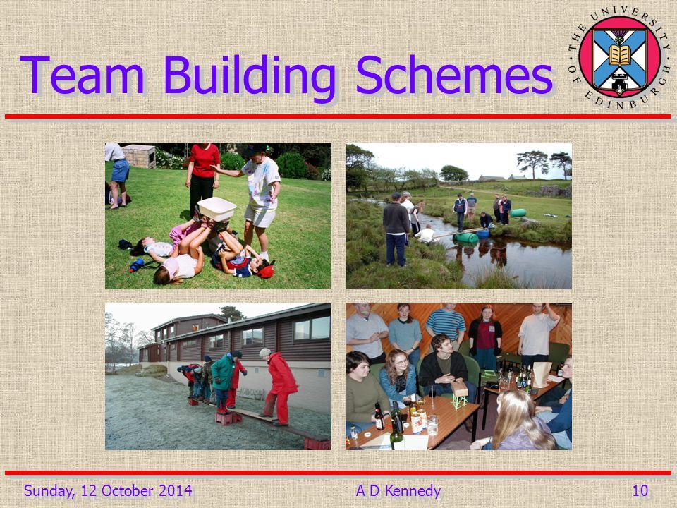 10 Team Building Schemes Sunday, 12 October 2014A D Kennedy