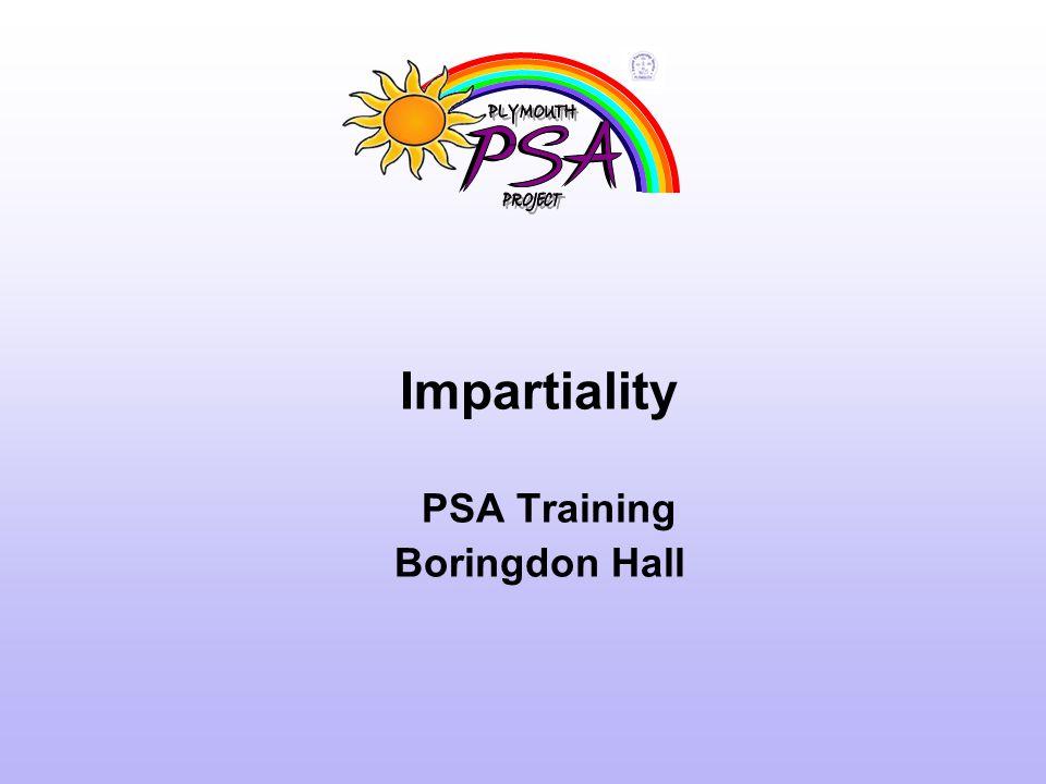 Impartiality PSA Training Boringdon Hall