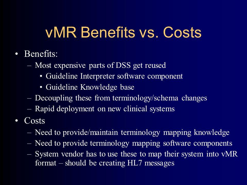 vMR Benefits vs.