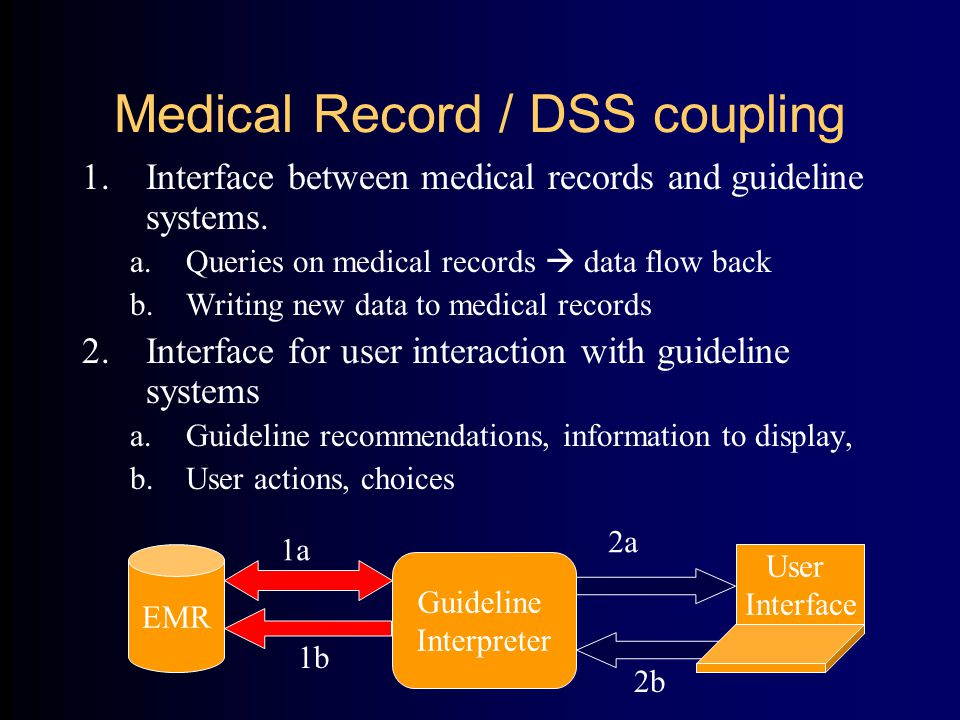 Medical Record – DSS examples a.Queries on medical records  data flow back Need to satisfy logical expressions, e.g.