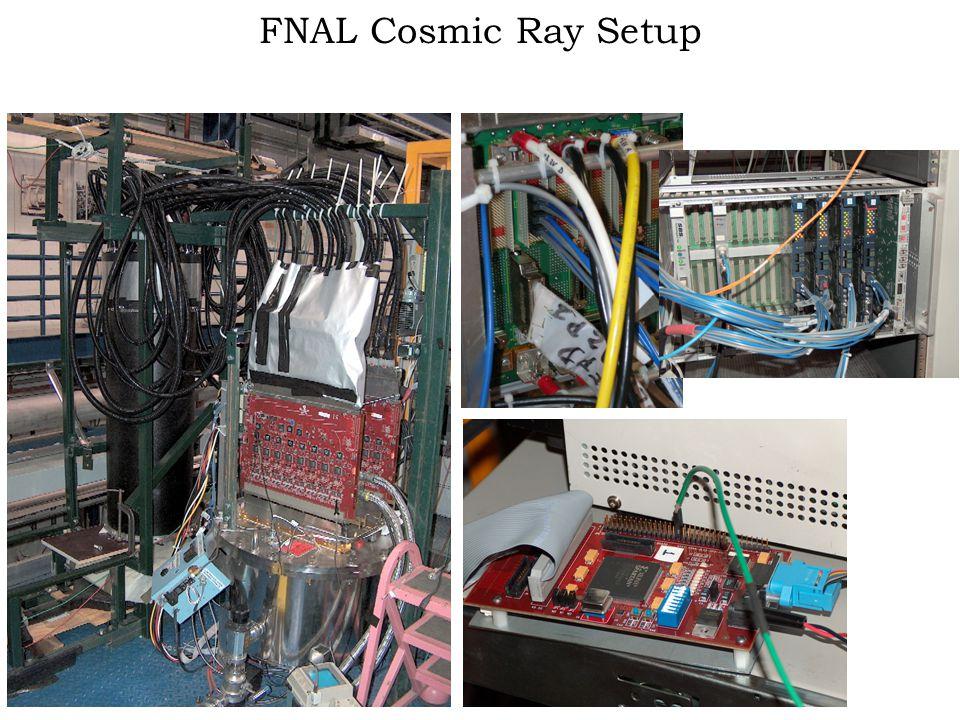 FNAL Cosmic Ray Setup