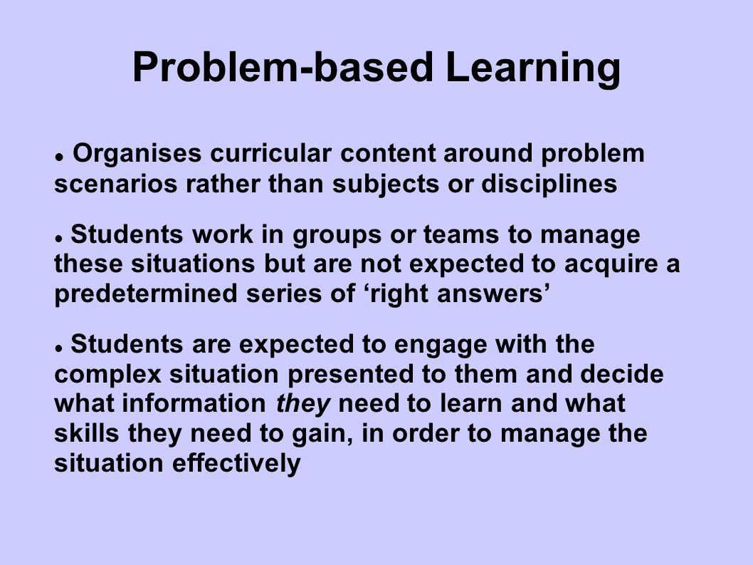 Problem Triggers Students are given triggers to initiate the project; Triggers do not describe the problem they initiate a creative and critical response in the students; Promote critical thinking and an engagement with the real world; Outcomes are open ended and there is no right or wrong answer.