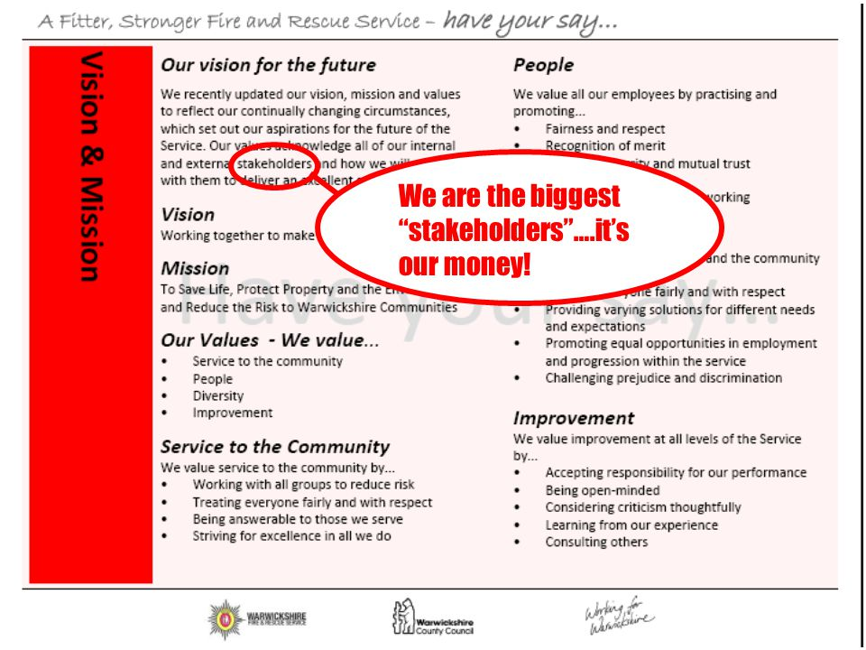"""We are the biggest """"stakeholders""""….it's our money!"""