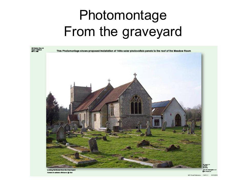 Photomontage From the graveyard
