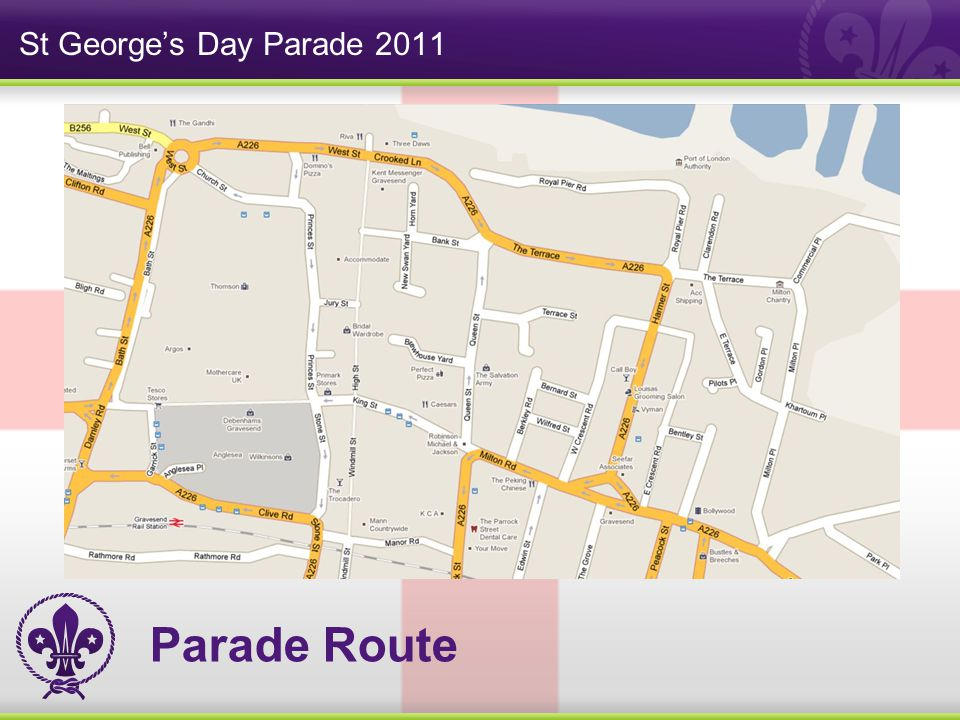 St George's Day Parade 2011 Parade Route