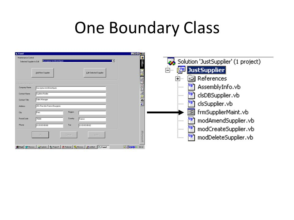 One Boundary Class