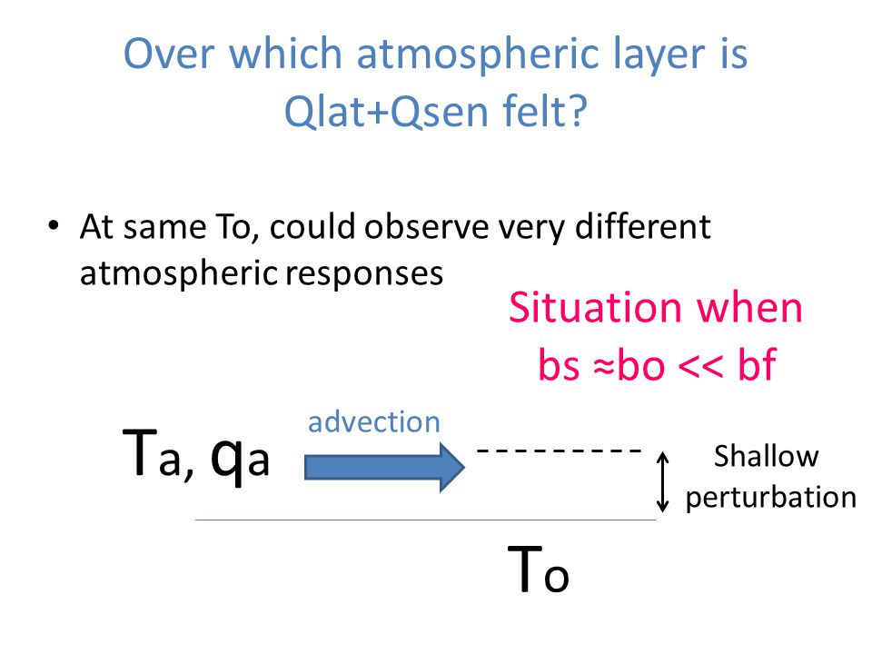 Over which atmospheric layer is Qlat+Qsen felt.