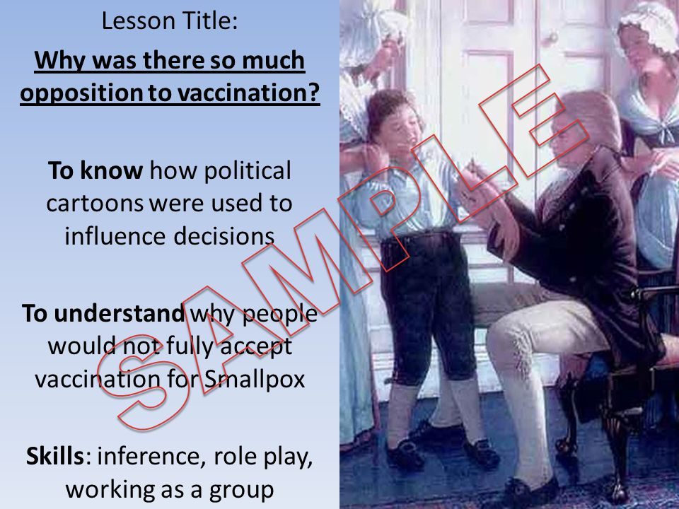 Lesson Title: Why was there so much opposition to vaccination.