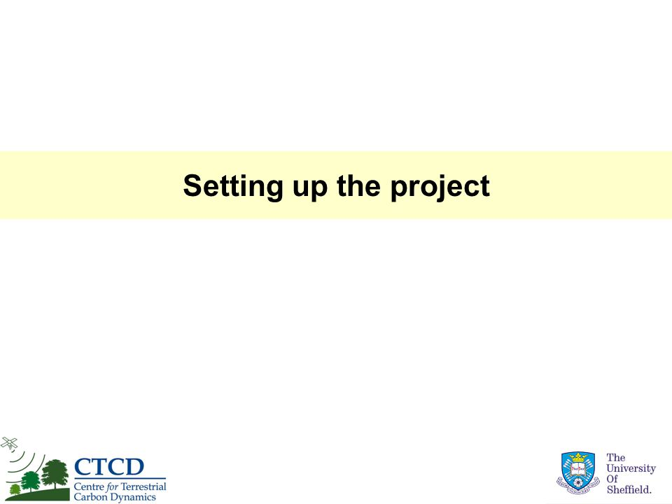 Setting up the project