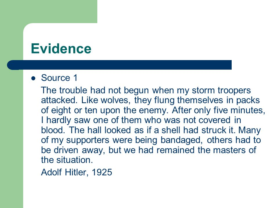 Using the evidence What does this source tell us.1.
