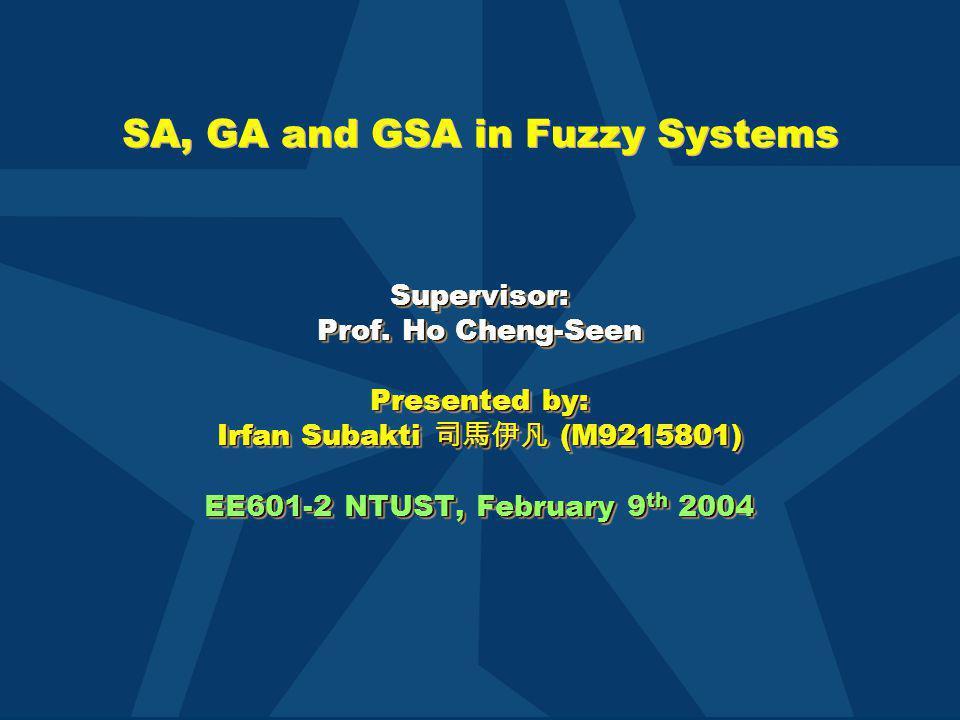 GSA (continue) Pseudo-code of GSA (Koakutsu et al.