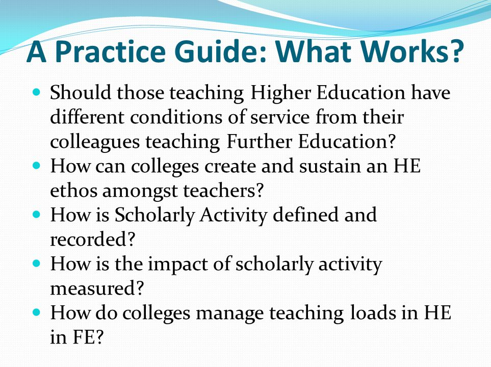 A Practice Guide: What Works.