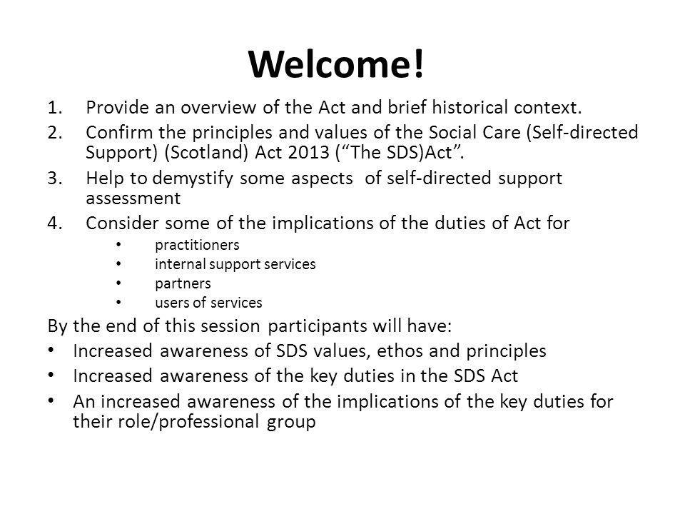 Welcome.1.Provide an overview of the Act and brief historical context.