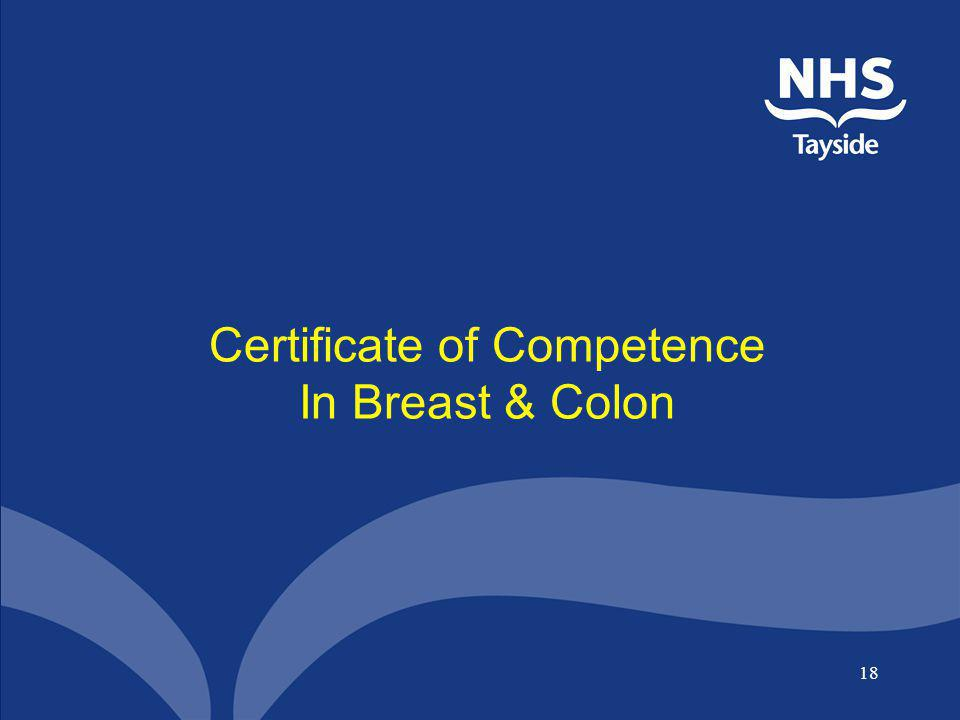 18 Certificate of Competence In Breast & Colon