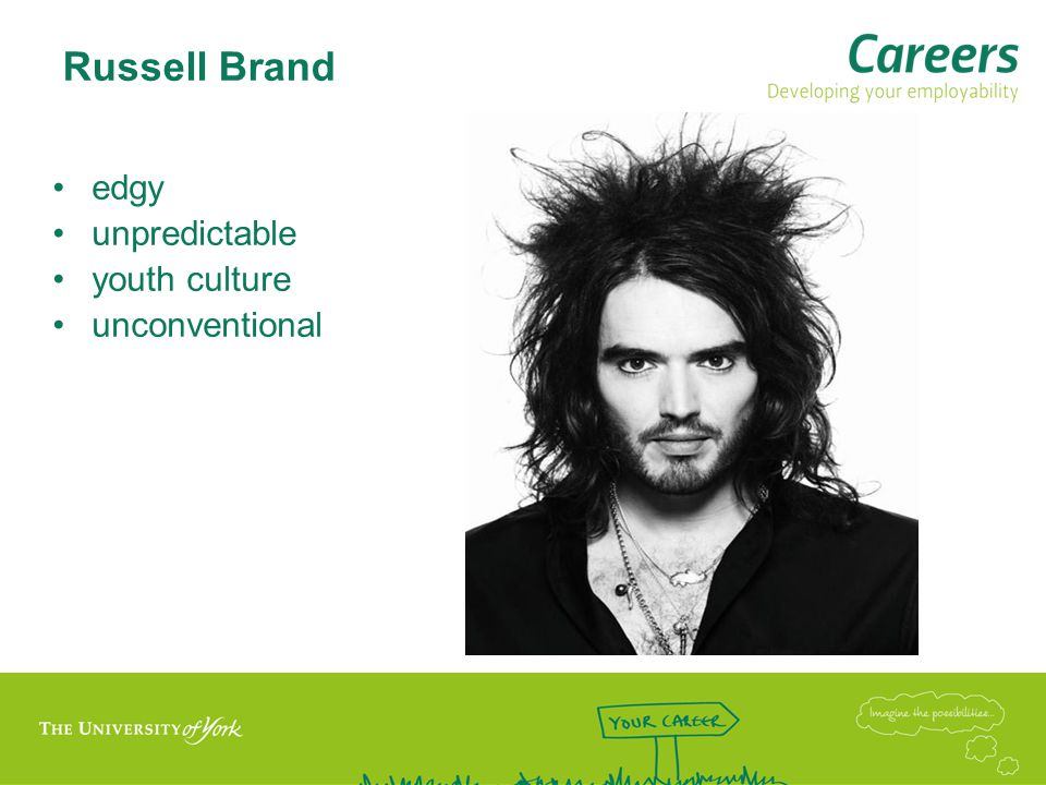 Russell Brand edgy unpredictable youth culture unconventional