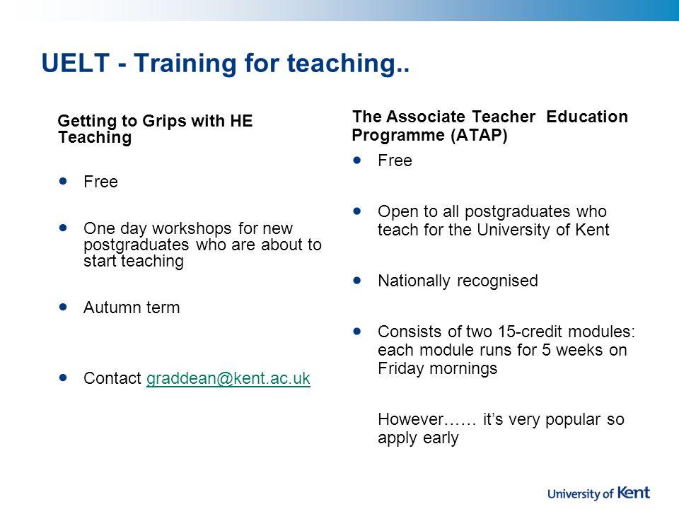 UELT - Training for teaching..