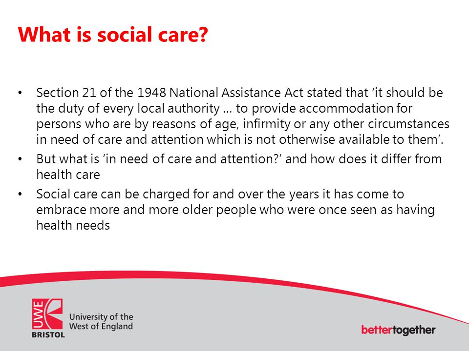 What is social care.