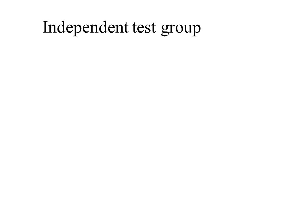 Independent test group