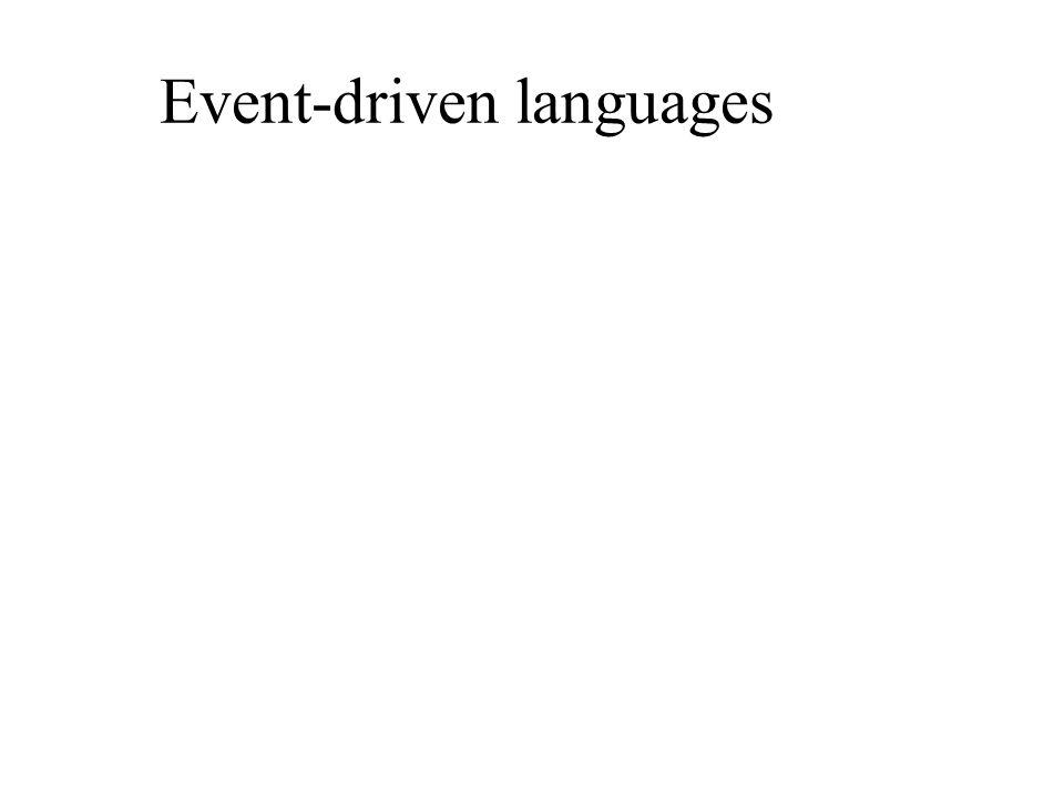 Event-driven languages