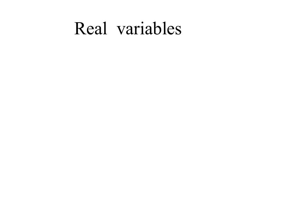 Real variables