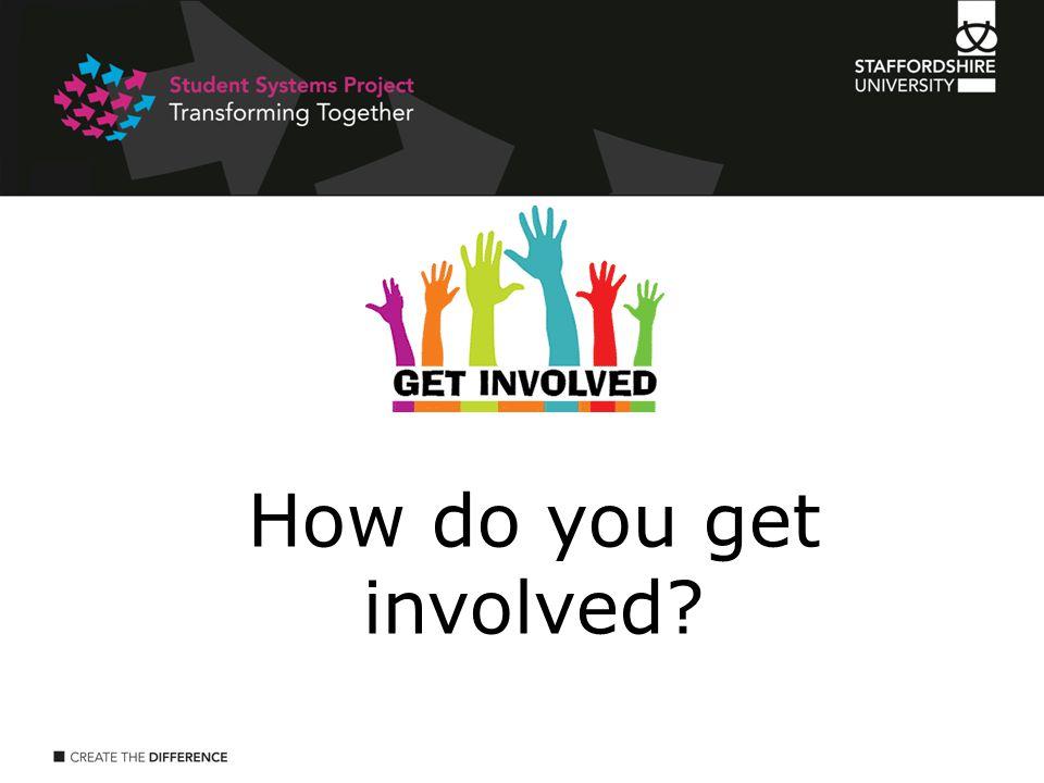 How do you get involved?