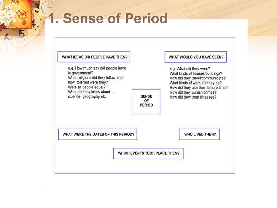 1. Sense of Period