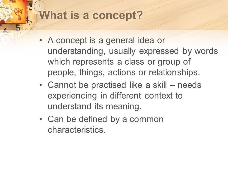 What is a concept.