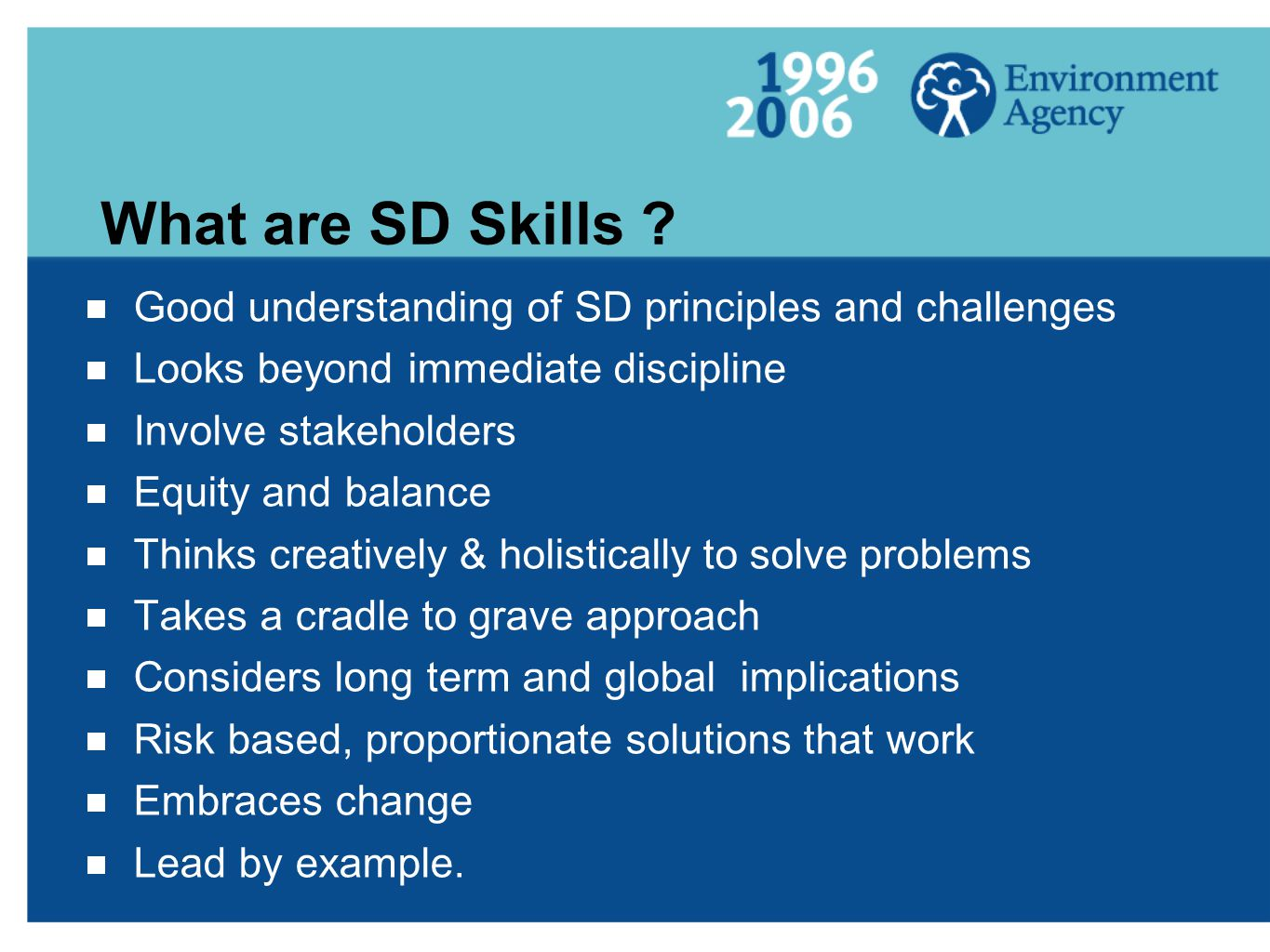 What are SD Skills .