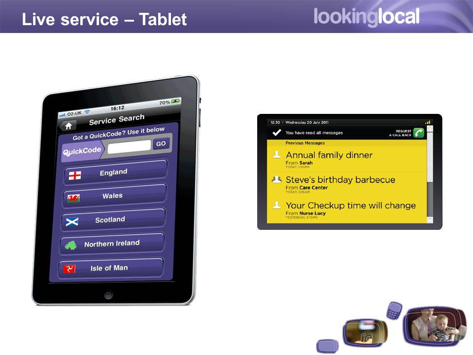 Starter Kit Live service – Tablet