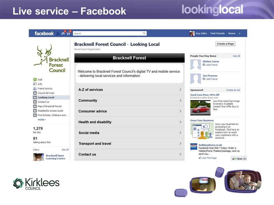 Live service – Facebook