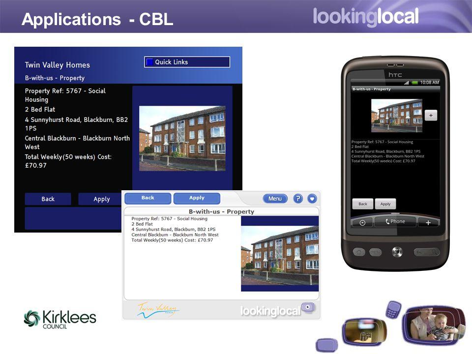 It is…Applications - CBL