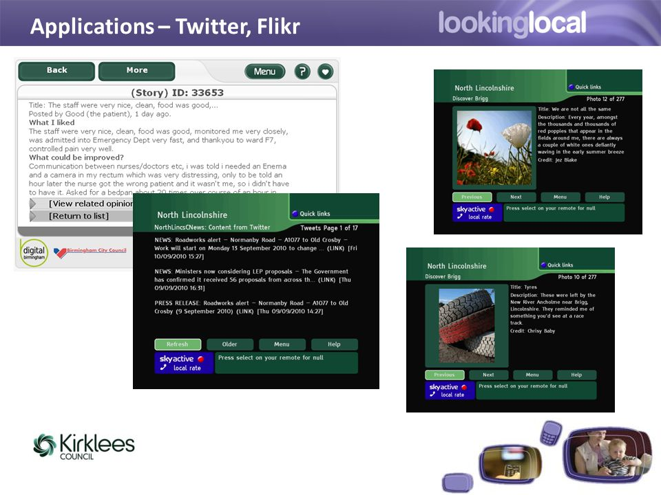 Applications – Twitter, Flikr