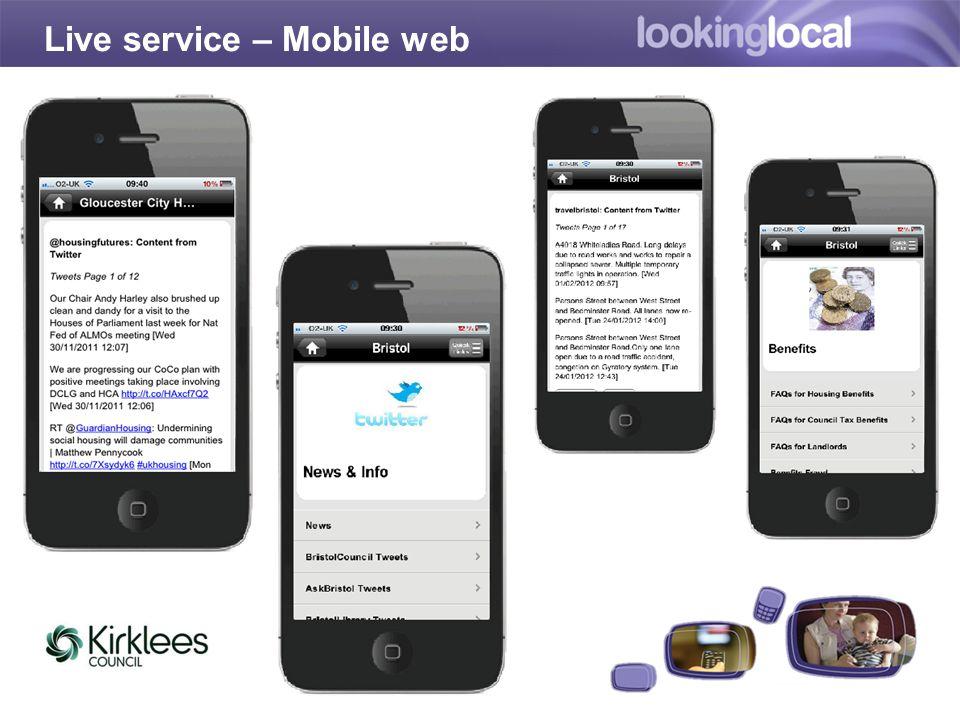 Live service – Mobile web
