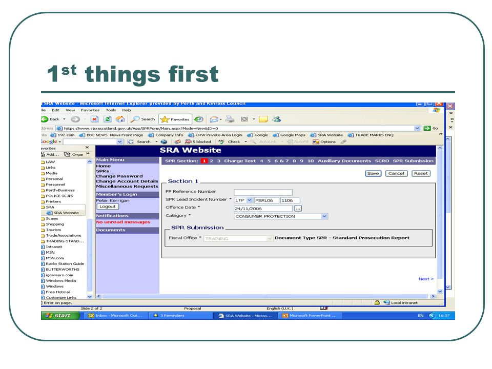 Once you have received your SCRO – go back to Sect 2 and edit the bit that says SCRO number.