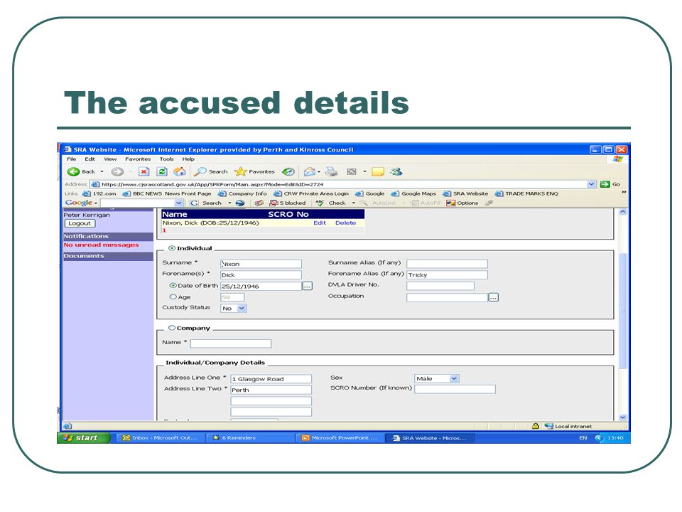 Add a document – say a food safety application.
