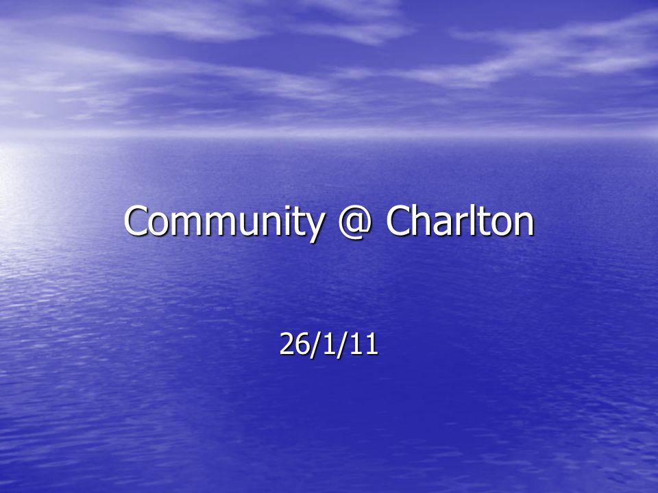 Community @ Charlton 26/1/11