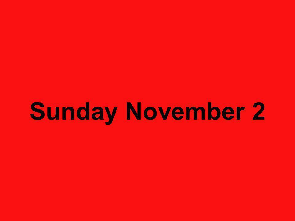 Sunday November 2