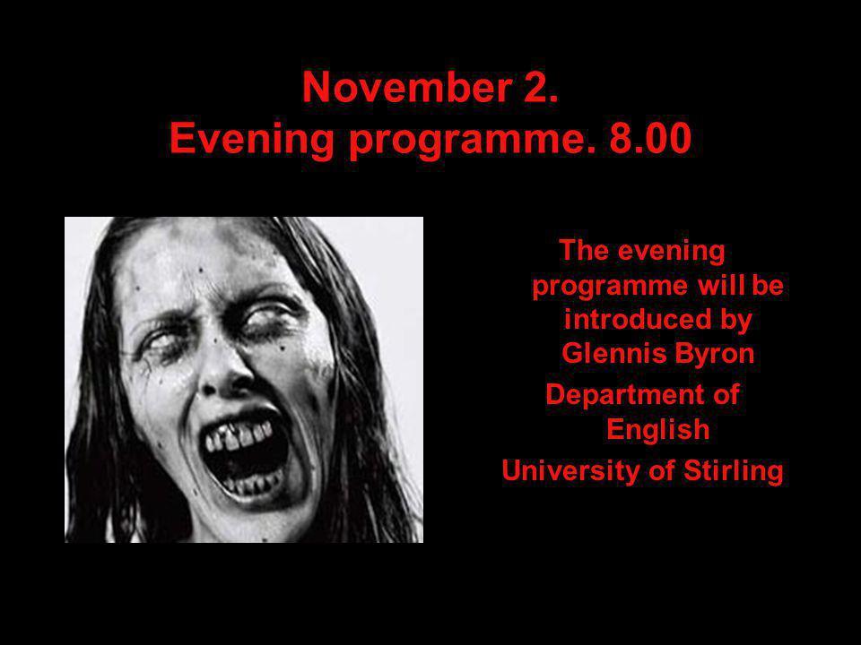 November 2. Evening programme.