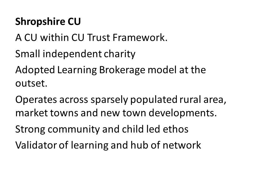 Shropshire CU A CU within CU Trust Framework.