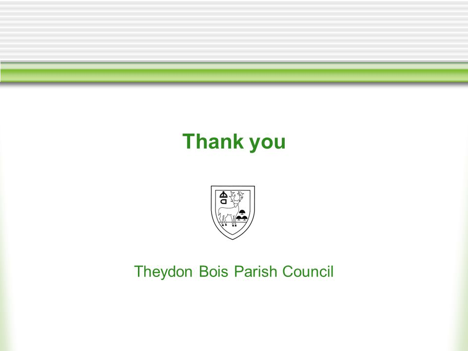 Thank you Theydon Bois Parish Council
