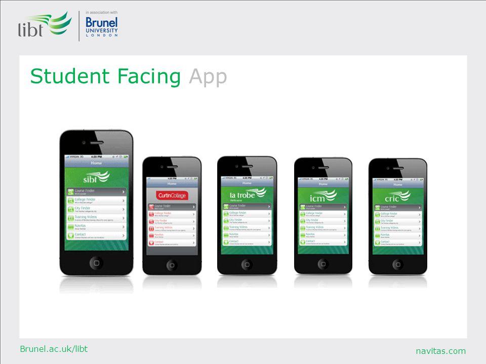 navitas.com Brunel.ac.uk/libt Student Facing App