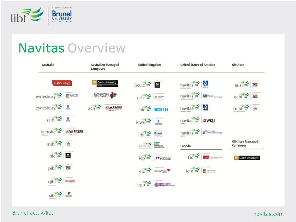 navitas.com Brunel.ac.uk/libt Navitas Overview