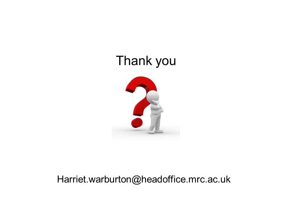Thank you Harriet.warburton@headoffice.mrc.ac.uk