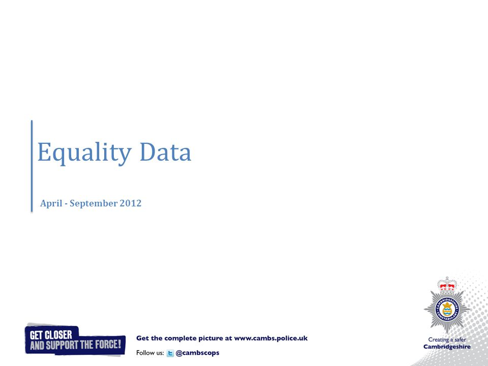 Equality Data April - September 2012